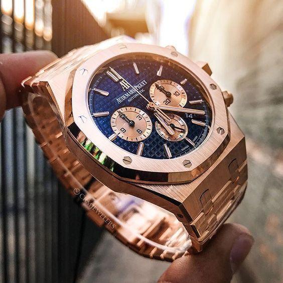 55 975 00 Rose Gold Ap Royal Oak Luxury Watches For Men Audemars Piguet Watches For Men