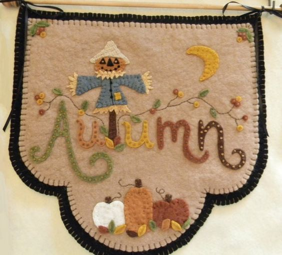 Scarecrow Jack Table Runner/Candle Mat with by pennylaneprims