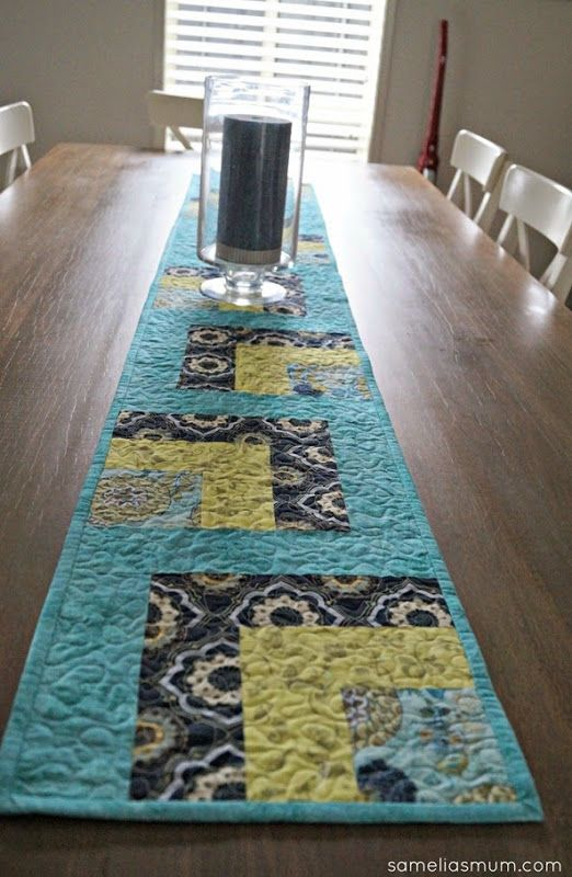 Pinterest Quilting Table Runners : ?Whip it Up Quick? Table Runner : Free Pattern at sameliasmum.com Quilt Inspiration ...