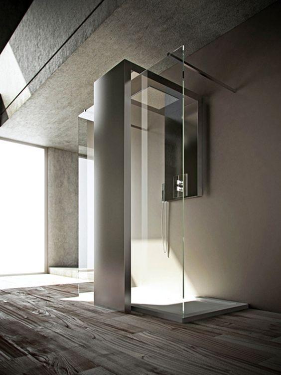 heated-towel-rail-shower-combo-by-brandoni-monolith-4jpg modern - badewanne eingemauert modern