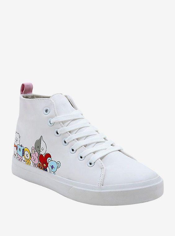 BT21 Hi-Top Sneakers | Kawaii shoes