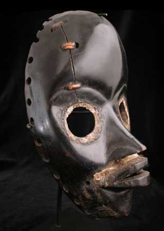 Dan Gunyeya/Gunyege (Runner) Mask  Origin: Liberia Circa: 1900 AD to 1930 AD