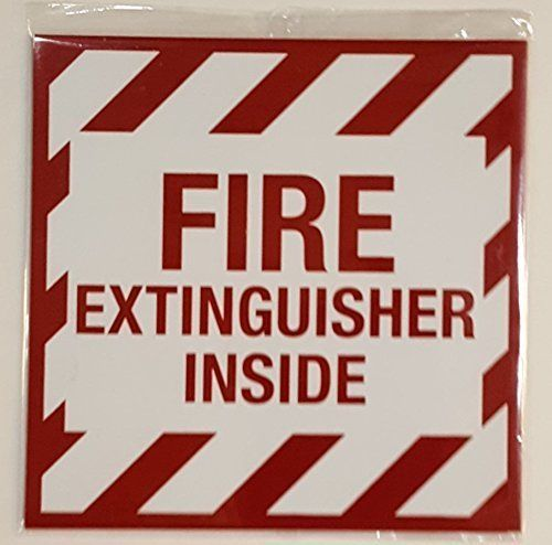 Details About Fire Extinguisher Inside Sign White Aluminum Sign 4x4 Aluminum Signs Fire Extinguisher Business Signs