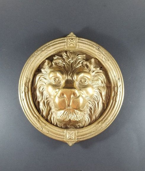 Pin On Antique English Lion Door Knocker Large