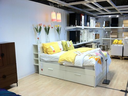 brimnes bed Ikea Small spaces big dreams Pinterest Tulip, The o'jays and Beds