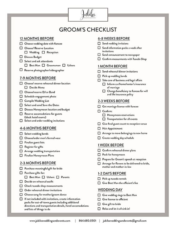Groom Checklist Wedding Mike S Board Pinterest Weddings And Spring