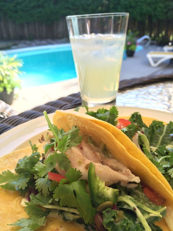 Homemade Fish Tacos and Margaritas.  Perfection!!!