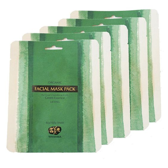 WHAMISA Organic Sea Kelp Facial Sheet Mask - Masque à l'algue certifié bio Ecocert