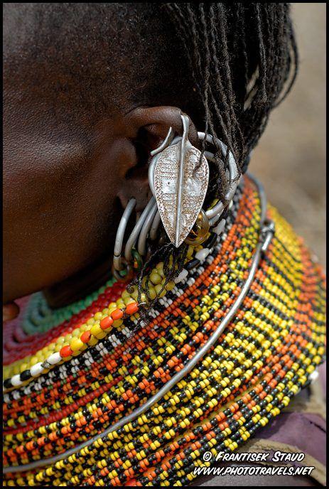 Africa   Detail of Turkana woman jewellery, Kenya    © Frantisek Staud.