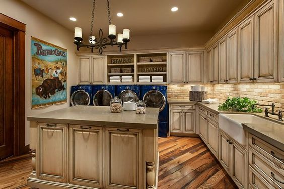 Luxury laundry rooms keep things convenient and organized. Custom Cabinetry: Rooms Where They Shine - Scottsdale Design Center