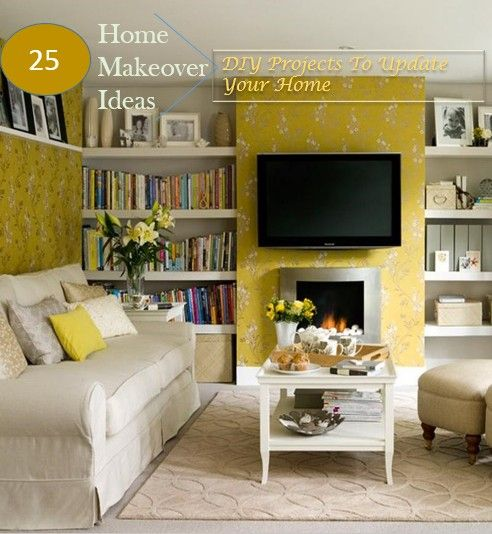25 home makeover ideas on a budget-DIY projects to update your home. HnGIdeas.com