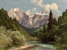 "edward harrison compton paintings | Edward Harrison Compton, ""Berchtesgadener Flusslandschaft mit Blick ..."