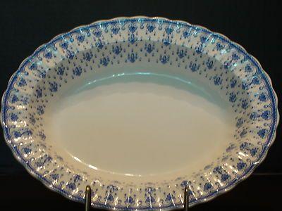Spode's bleu fleur-de-lis veggie bowl! 11.5 in long. Gorgeous!!!