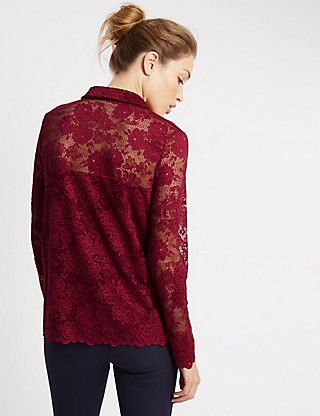 Loose Fit Long Sleeve Jersey Top | M&S