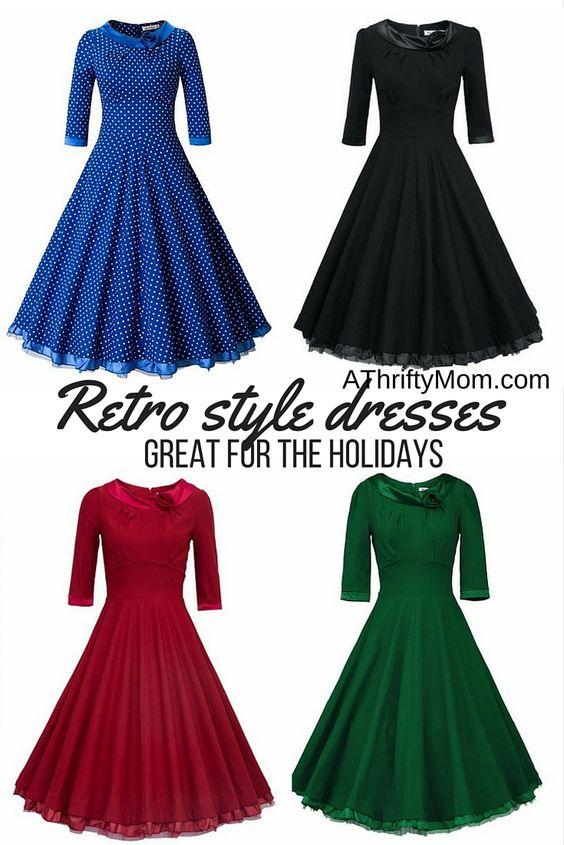 Retro style dresses retrodresses Holiday dress modest style ...