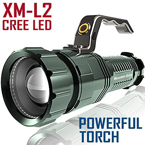 Sale Powerful Floodlight Rechargeable Spotlight Bright Led Searchlight Xm L2 Cree Powerful Led Flashlight Handheld Strobe Flashlight Led Flashlight Flashlight
