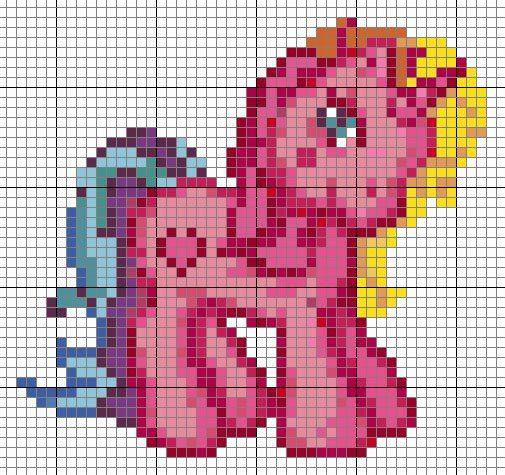 pink pony hama perler beads