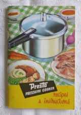 """Presto Pressure Cooker Recipes & Instructions"" (Tower Housewares, c.1970s) - retro vintage cookery booklet"