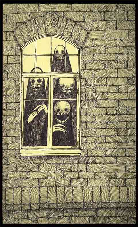 John Kenn  --- Everyone always watches out the window when the new neighbors move in. ---
