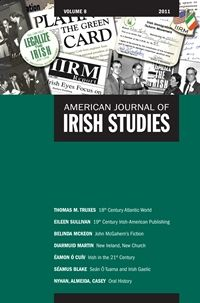 Check out the collage on the cover of Volume 8 of the American Journal of Irish Studies featuring images from the IIRM collection in the Archives of Irish America.
