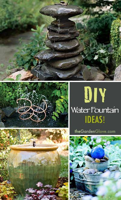Diy water fountain fountain ideas and water fountains on for Build outdoor rock water fountains