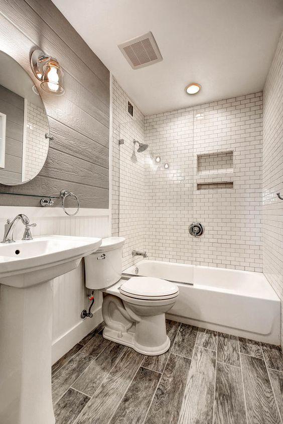 Colorful Small Bathroom Ideas - Dark Shades combination White Black Stripe Bathroom Remodel Lighting Bathroom Ideas - White Soft Green Vertical Lines Blue White