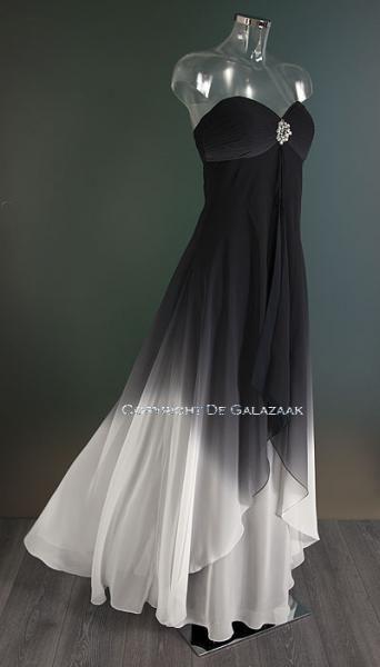 Zwart witte gala jurk