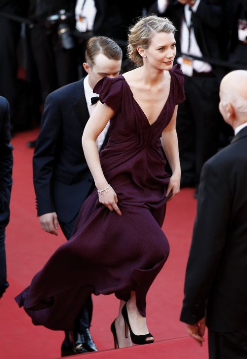 """Mia Wasikowska at the """"Lawless"""" Premiere, 65th Annual Cannes FF (May 19)"""