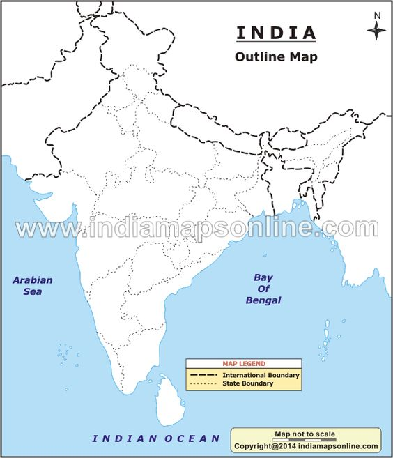 india political map outline pdf download