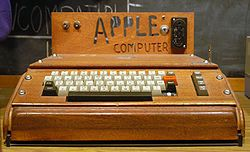 The Apple 1 - unveiled at the Homebrew Computer Club (founded by Fred Moore in 1975)