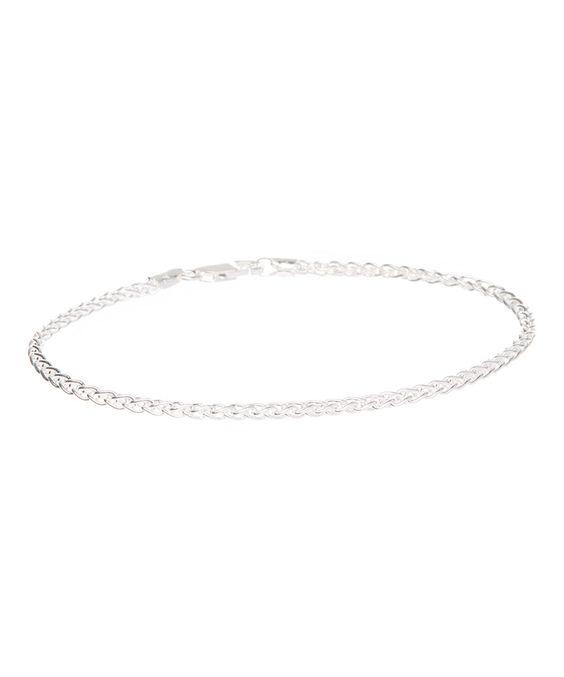 Look at this #zulilyfind! Sterling Silver Spiga Chain Bracelet by Sevil 925 #zulilyfinds