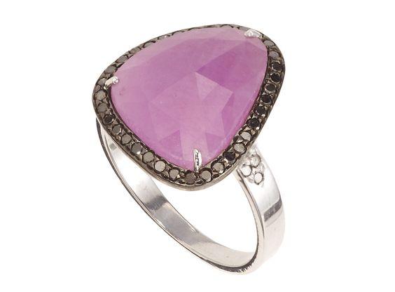 Lilac Sapphire and Diamond Ring | Didi Jewellery