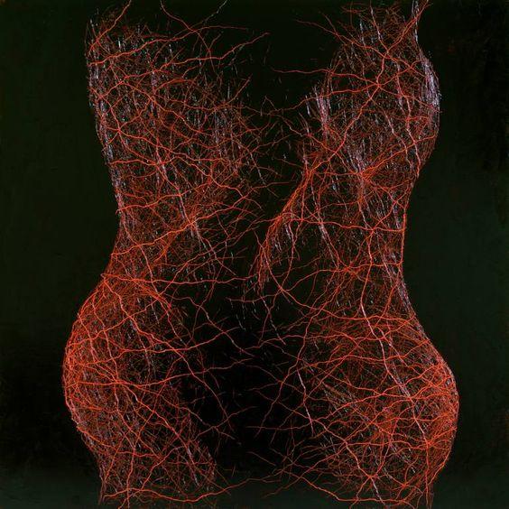 "Saatchi Art Artist Tim Grosvenor; Painting, ""Two Forms"" #art"