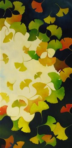 Gingko Leaves Against the Sky, Hellenne Vermillion