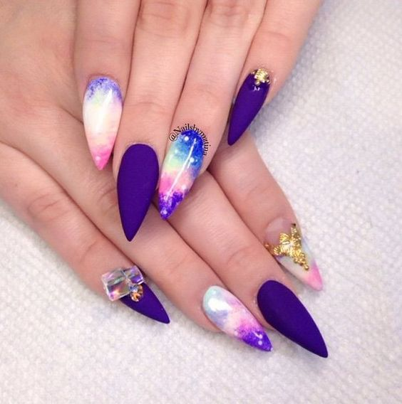 Galaxy Nail Art Desgins 2