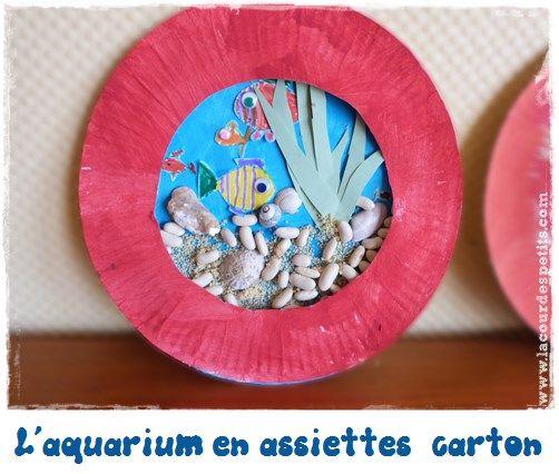 Les petits poissons : bricolage avec assiette en carton