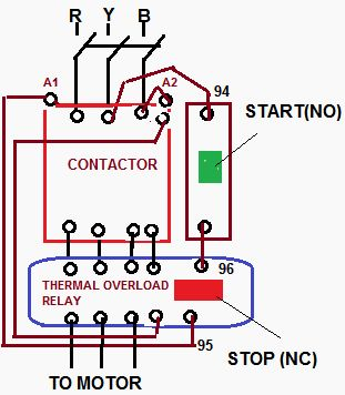 how to wire a compressor with overload contactor - google ... 3 phase motor starter relay wiring diagram motor overload relay wiring diagrams #8
