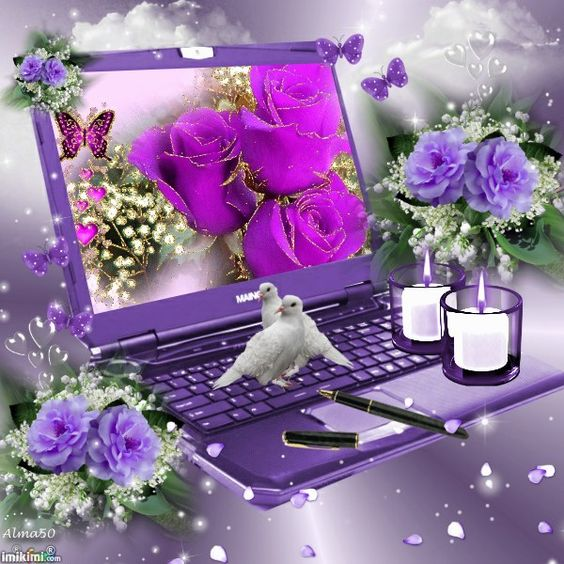 Purple Laptop: