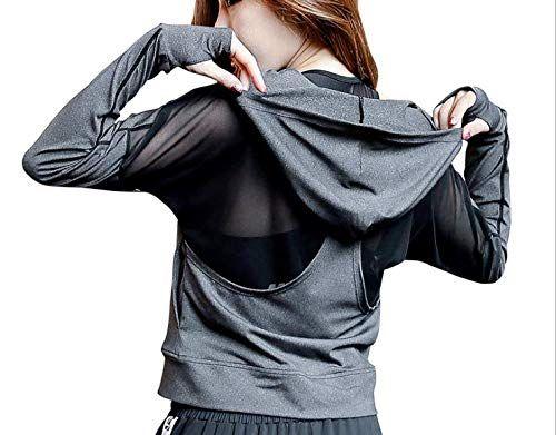 Veste /à Capuche Femme Sweat Veste Fitness Running Zipp/é