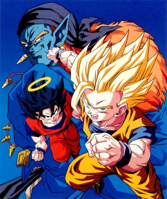 Goku and Gohan vs Bojack