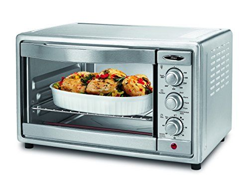 Oster Convection Toaster Oven 6 Slice Brushed Stainless Steel Tssttvrb04 Convection Toaster Oven Toaster Oven Countertop Oven