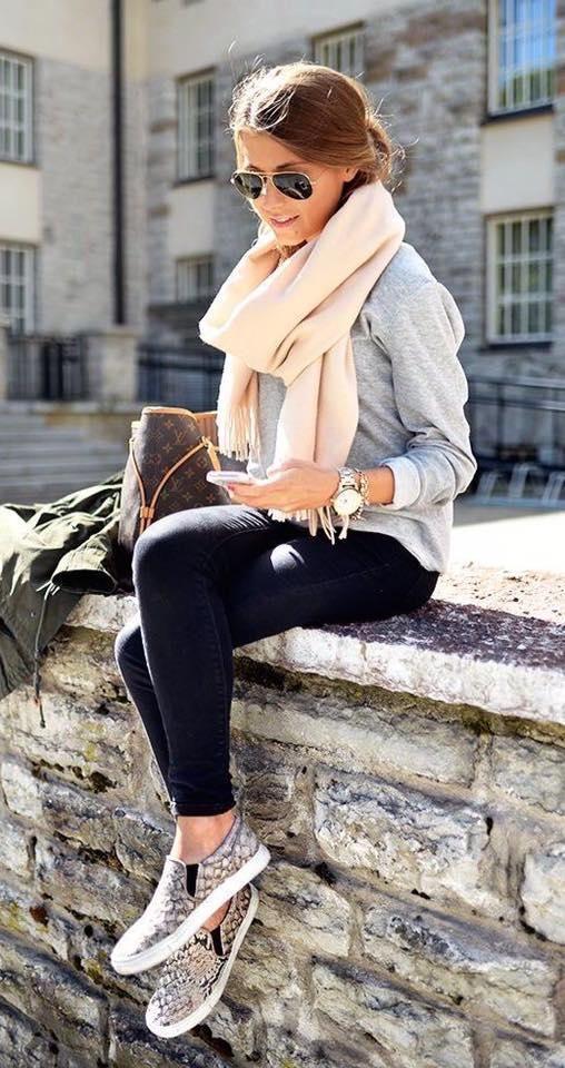 Hermosos outfits con pashmina ideal para invierno