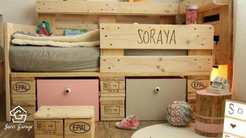 Geniale Diy Idee So Leicht Baust Du Ein Kinderbett Aus Holzpaletten Palettenmobel Selber Bauen Selber Bauen Kinderbett Kinderbett