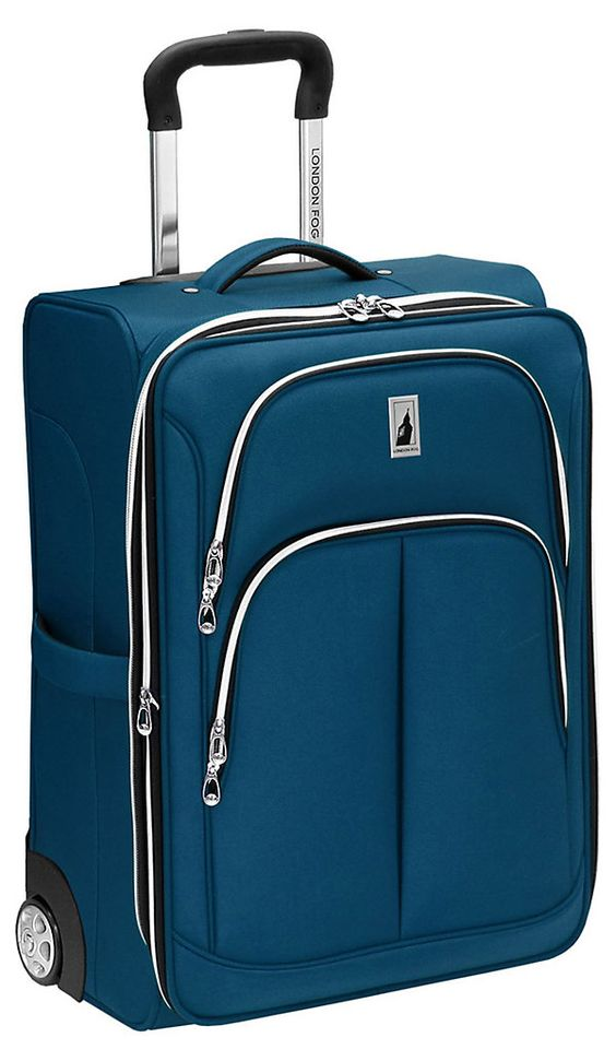 One Kings Lane - Travel in Style - 21'' Coventry Upright Carry-On, Sapphire