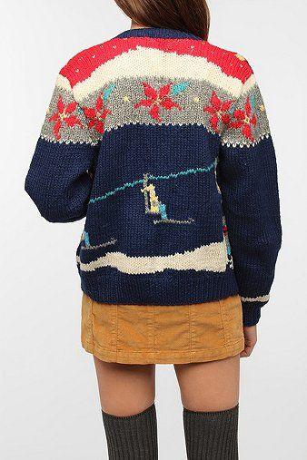 Urban Renewal Vintage Ugly Holiday Cardigan