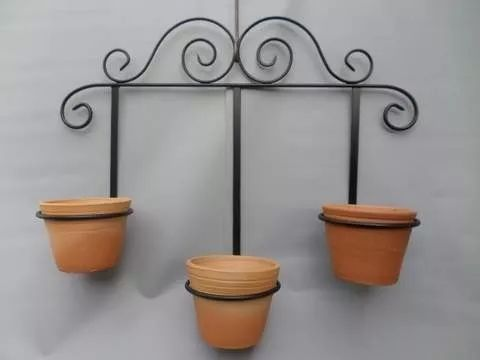 Suporte jardim suspenso vasos floreiras pinterest for Jardin vertical mercadolibre