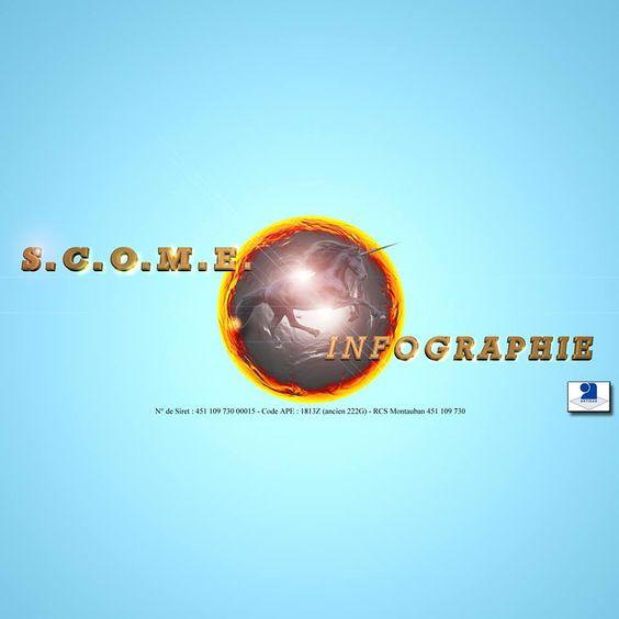Logo de l'enseigne. S.C.O.M.E. Infographie est une enseigne de S.C.O.M. Entreprise. Immatriculé depuis le 11 Décembre 2003. N° de Siret : 451 109 730 00015. Code APE : 1813Z. RCS Montauban : 451 109 730.