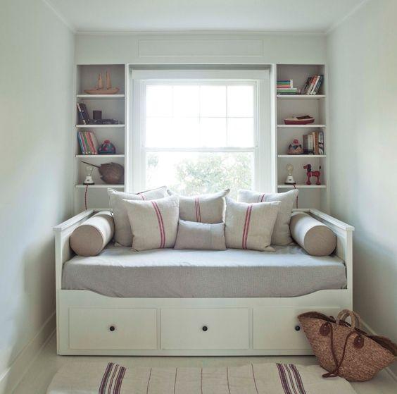 Ikea Shelves Hemnes Daybed In A Boys Bedroom: Comfortable Hemnes Daybed For Cozy Bedroom Design: Mid