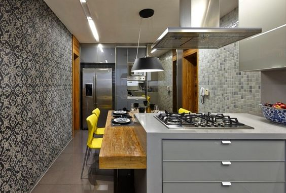 Kitchen, Open Kitchen Island With Seating And Dining Room. 20 Best Small Kitchen Designs