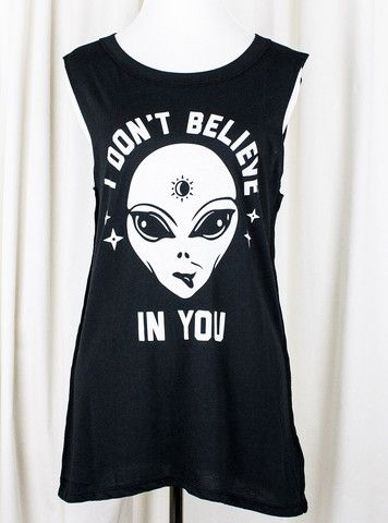Believer Alien Muscle Tee by Social Decay: